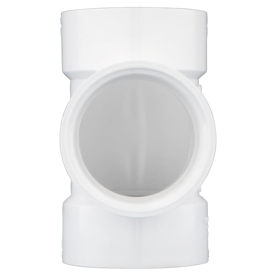 Charlotte Pipe 3-in dia PVC Flush Cleanout Tee Fitting