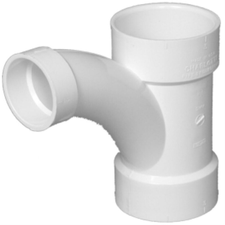 Charlotte Pipe 3-in x 3-in x 2-in Dia 45-Degree PVC Combo Wye Fitting