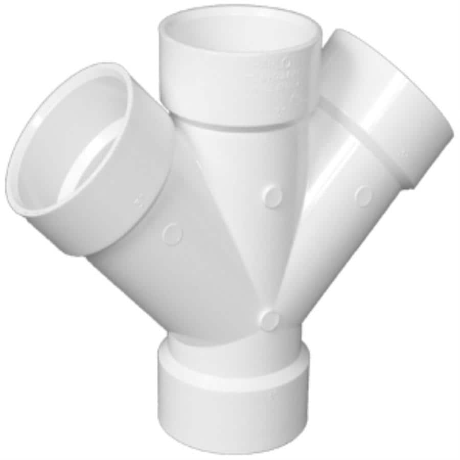 Charlotte Pipe 6-in dia 90-Degree PVC Double Wye Fitting