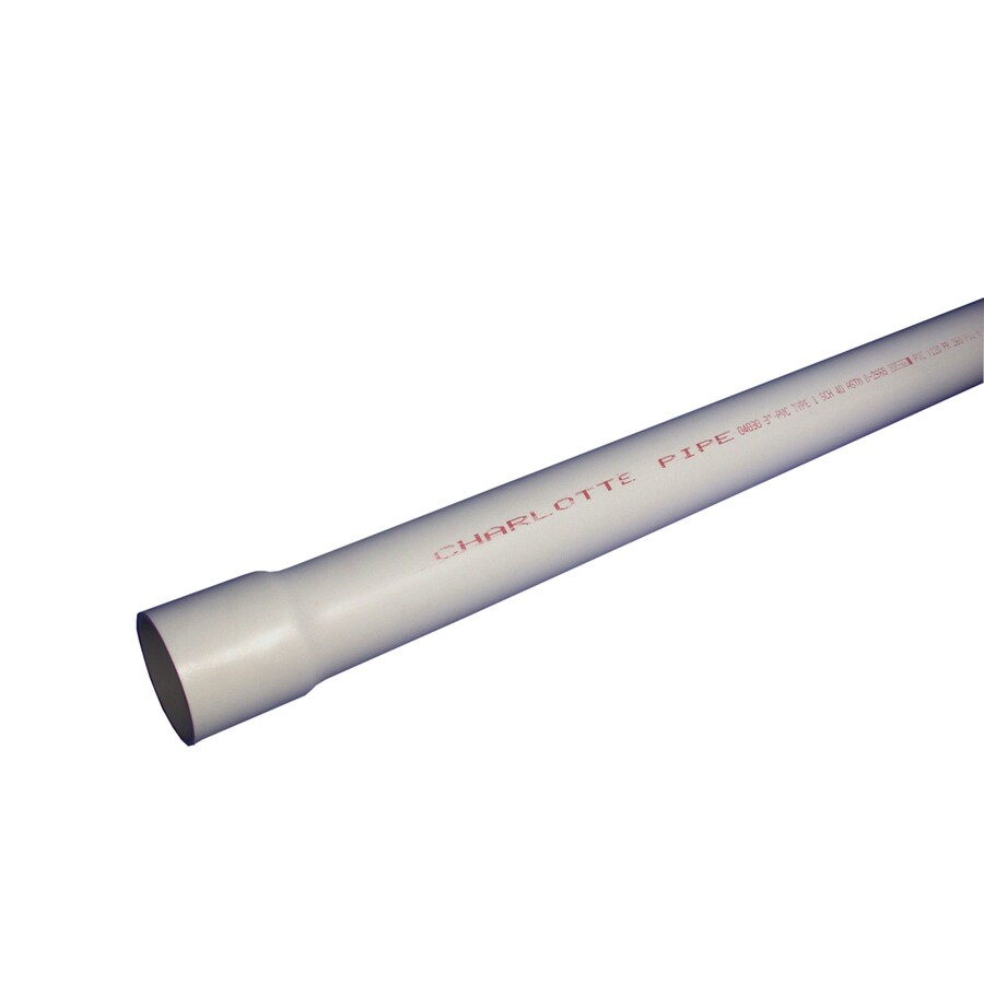 Charlotte Pipe 8-in x 20-ft 160-PSI Schedule 40 PVC Pipe