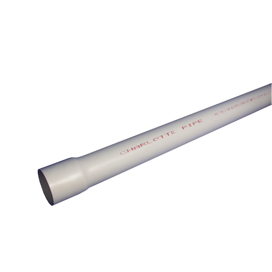 Charlotte Pipe 6-in x 10-ft 180-PSI Schedule 40 PVC Pipe