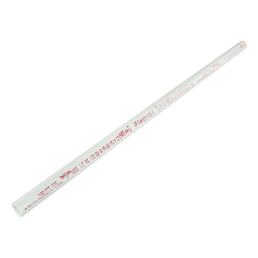 Charlotte Pipe 1/2-in x 2-ft 600-PSI Schedule 40 PVC Pipe