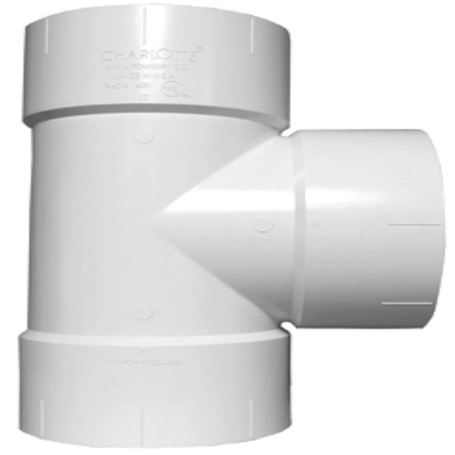 Charlotte Pipe 8-in dia PVC Straight Tee Fitting