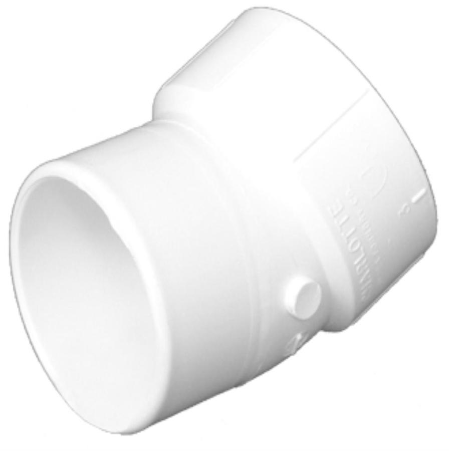 Charlotte Pipe 10-in dia 22-1/2-Degree PVC Street Elbow Fitting