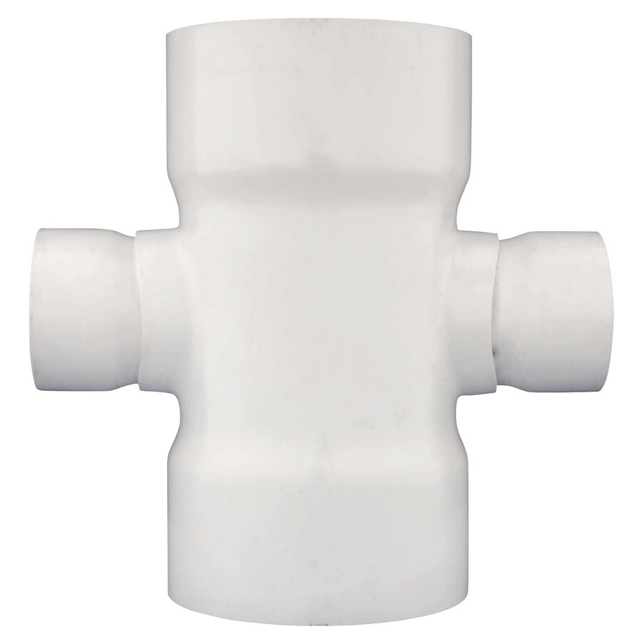 Charlotte Pipe 12-in x 4-in dia PVC Cross Tee Fitting