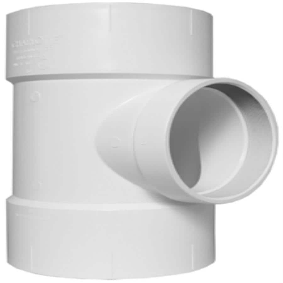 Charlotte Pipe 10-in x 10-in x 4-in dia PVC Flush Cleanout Tee Fitting