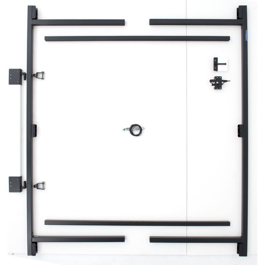 Adjust-A-Gate Contractor's Grade Black Gate Frame Kit