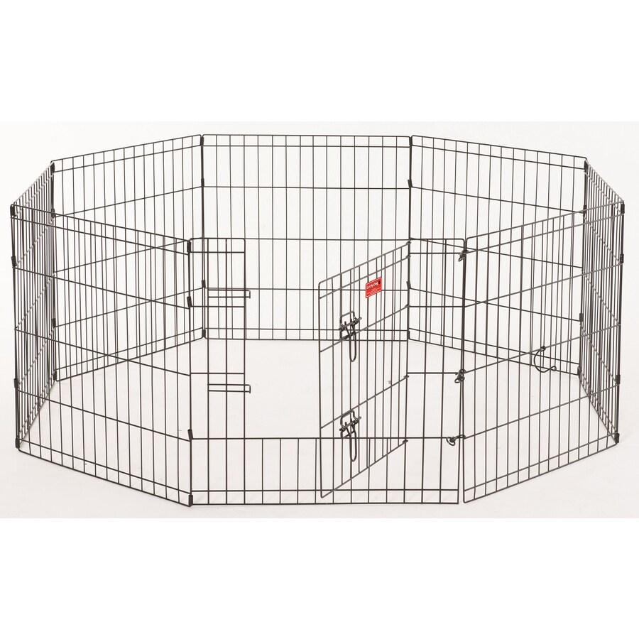 Lucky Dog 24-in x 24-in Black Steel Indoor/Outdoor Exercise Pen