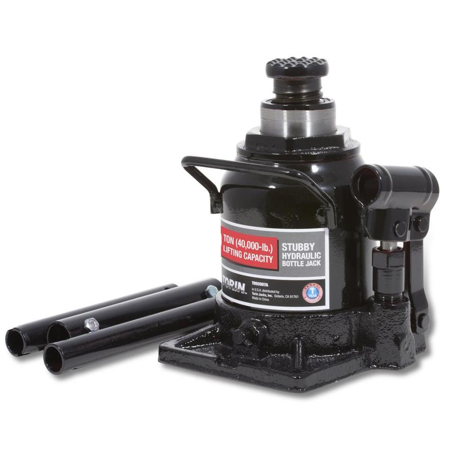 Torin Black Steel Hydraulic Bottle Jack In The Jacks Department At Lowes Com