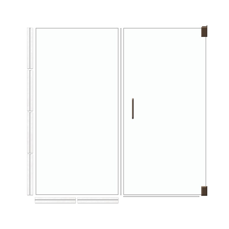 American Bath Factory 70-in H x 53.5-in W Laguna Shower Glass Panel