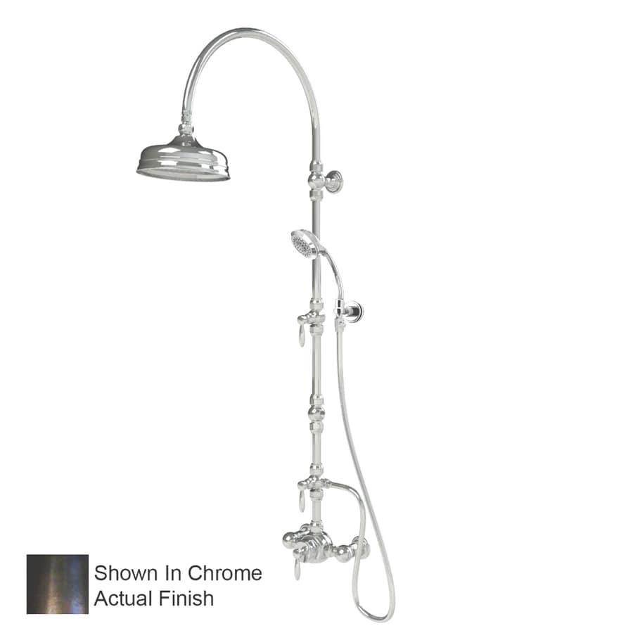 American Bath Factory Old World Bronze 3-Handle Shower Faucet with Single Function Showerhead