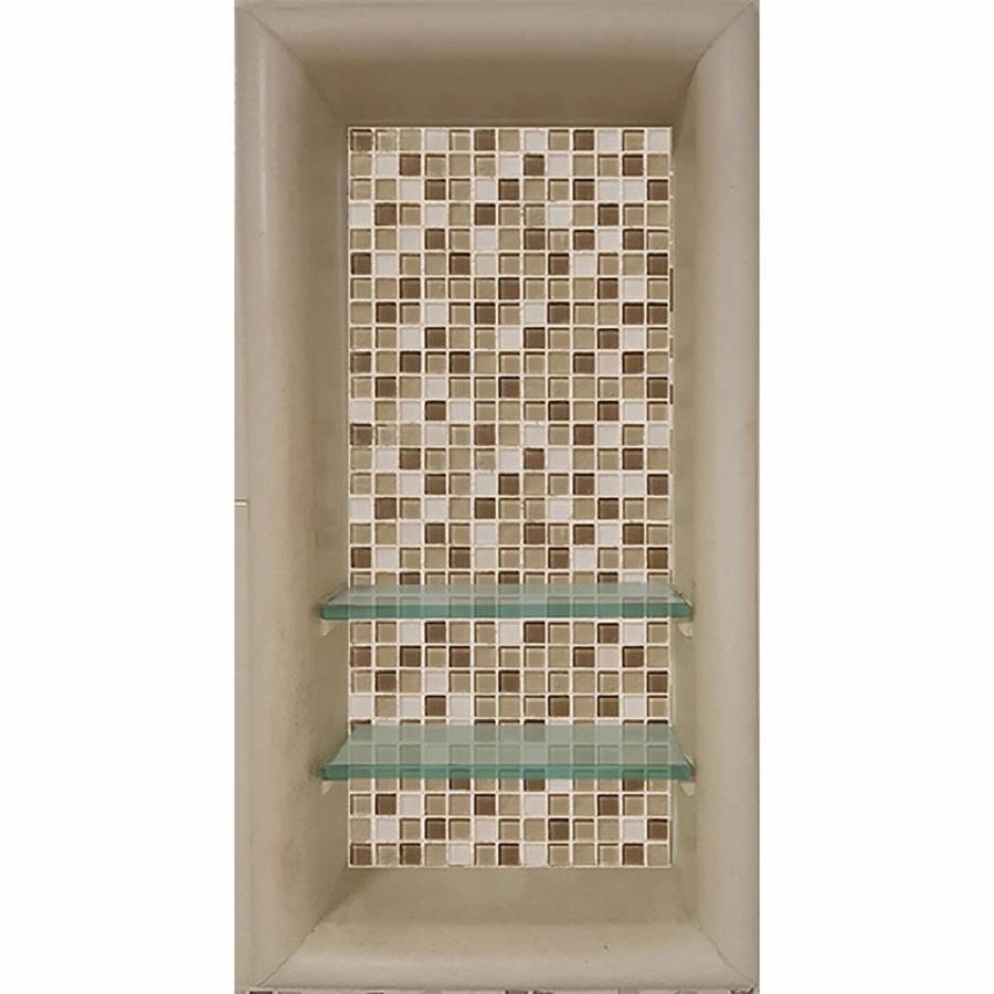 Shop American Bath Factory Medium Sistine Stone With Mesa Mosaic Tile Shower Wall Shelf At Lowes Com