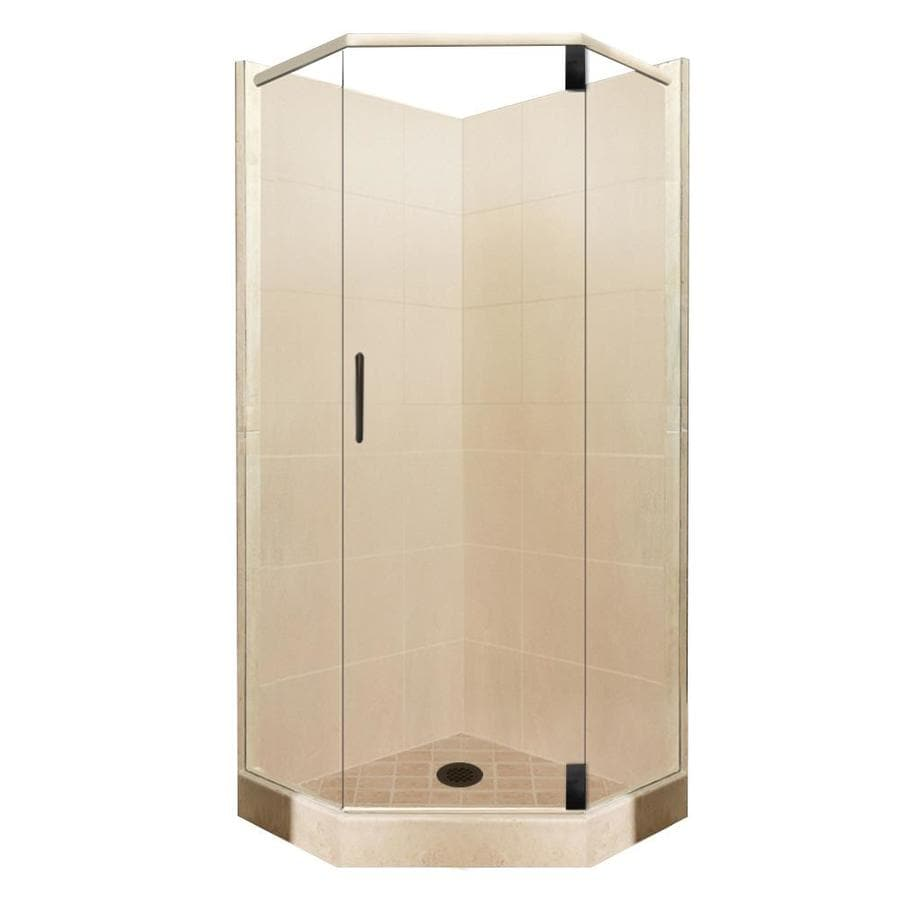 Sonoma Medium Sistine Stone Wall Stone Composite Floor Neo-Angle 10-Piece Corner Shower Kit (Actual: 80-in x 38-in x 38-in) Product Photo