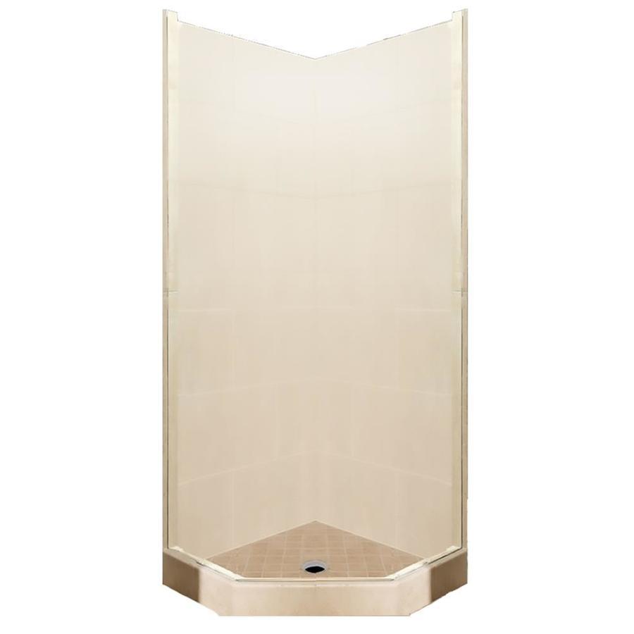 American Bath Factory Sonoma Medium Sistine Stone Wall Stone Composite Floor Neo-Angle 7-Piece Corner Shower Kit (Actual: 80-in x 36-in x 36-in)