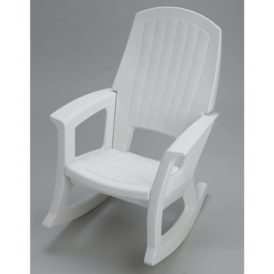 Shop White Plastic Patio Rocking Chair At