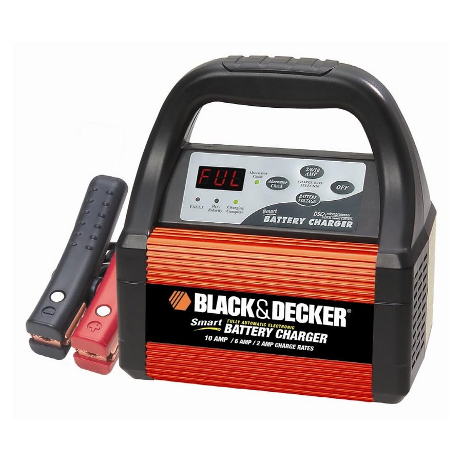 shop black decker 10 amp smart car battery charger at. Black Bedroom Furniture Sets. Home Design Ideas