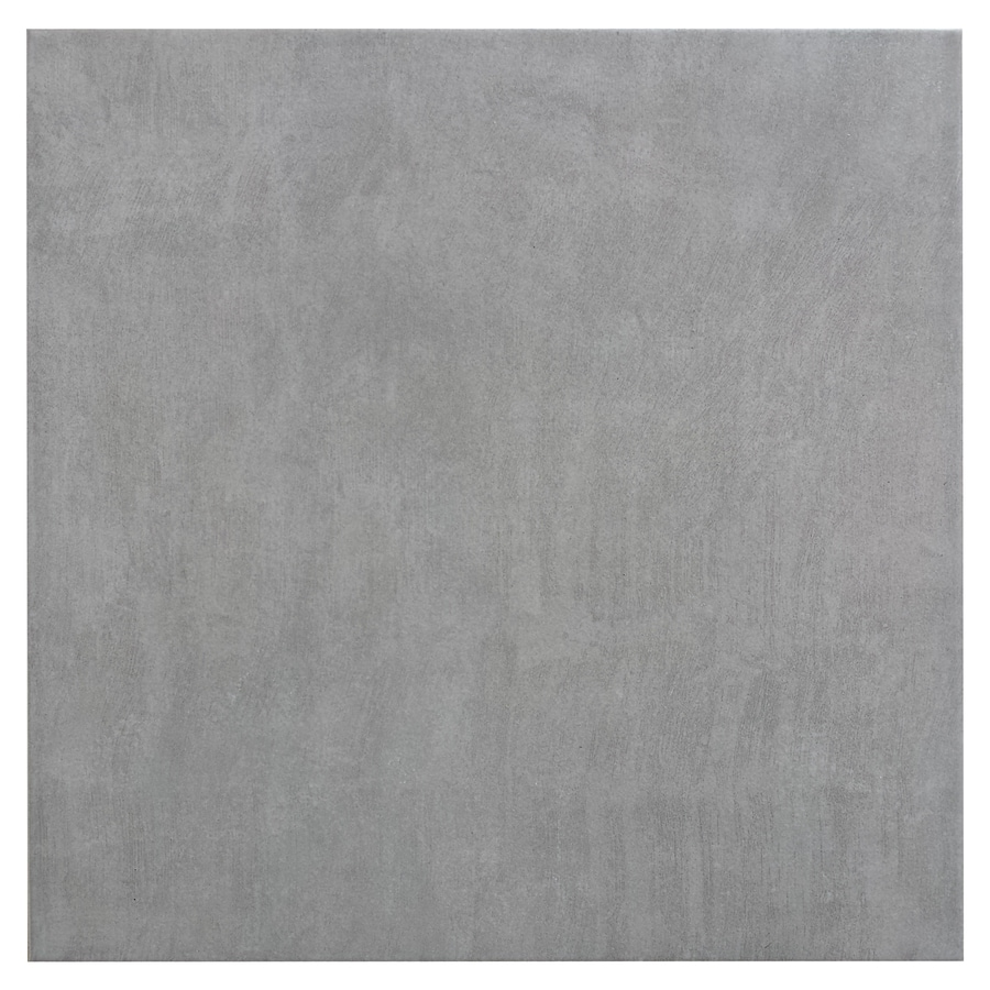 Style Selections Kettlecove Gray Ceramic Floor and Wall Tile (Common: 16-in x 16-in; Actual: 15.63-in x 15.63-in)