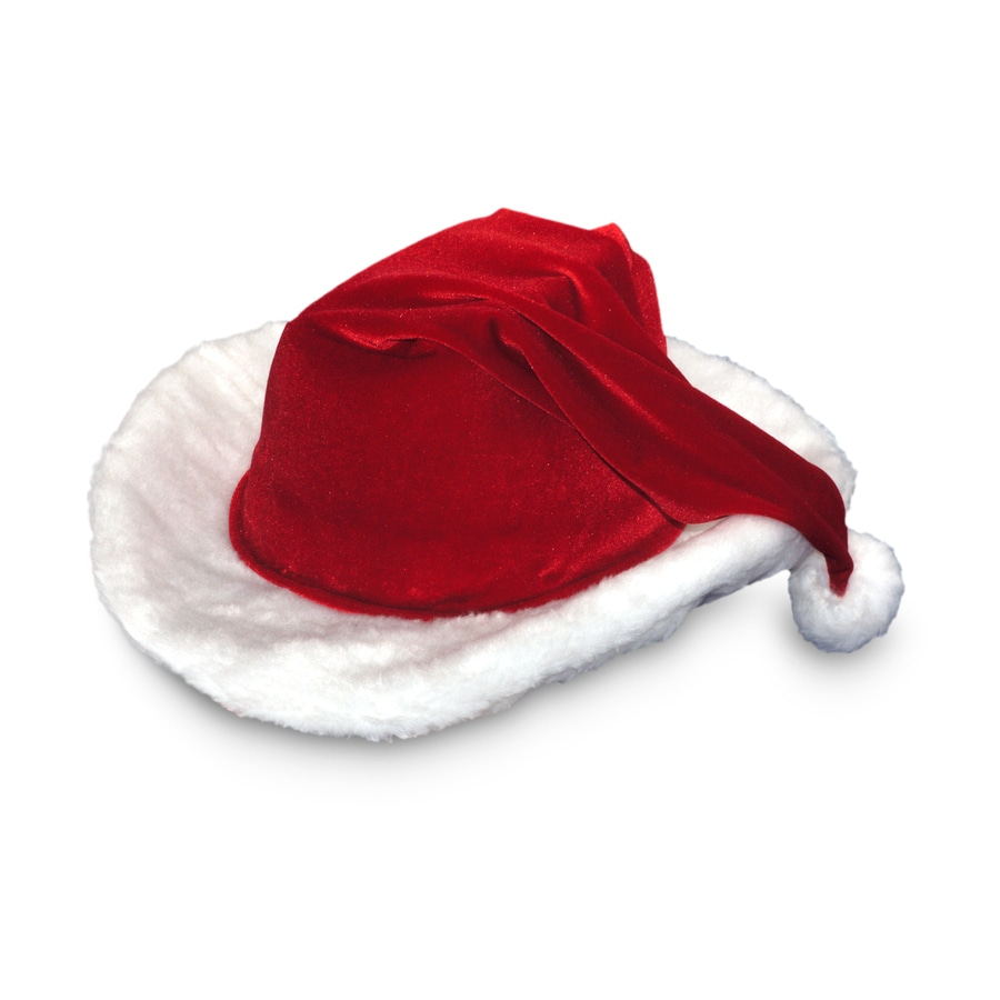 Red Velour Cowboy Santa Hat