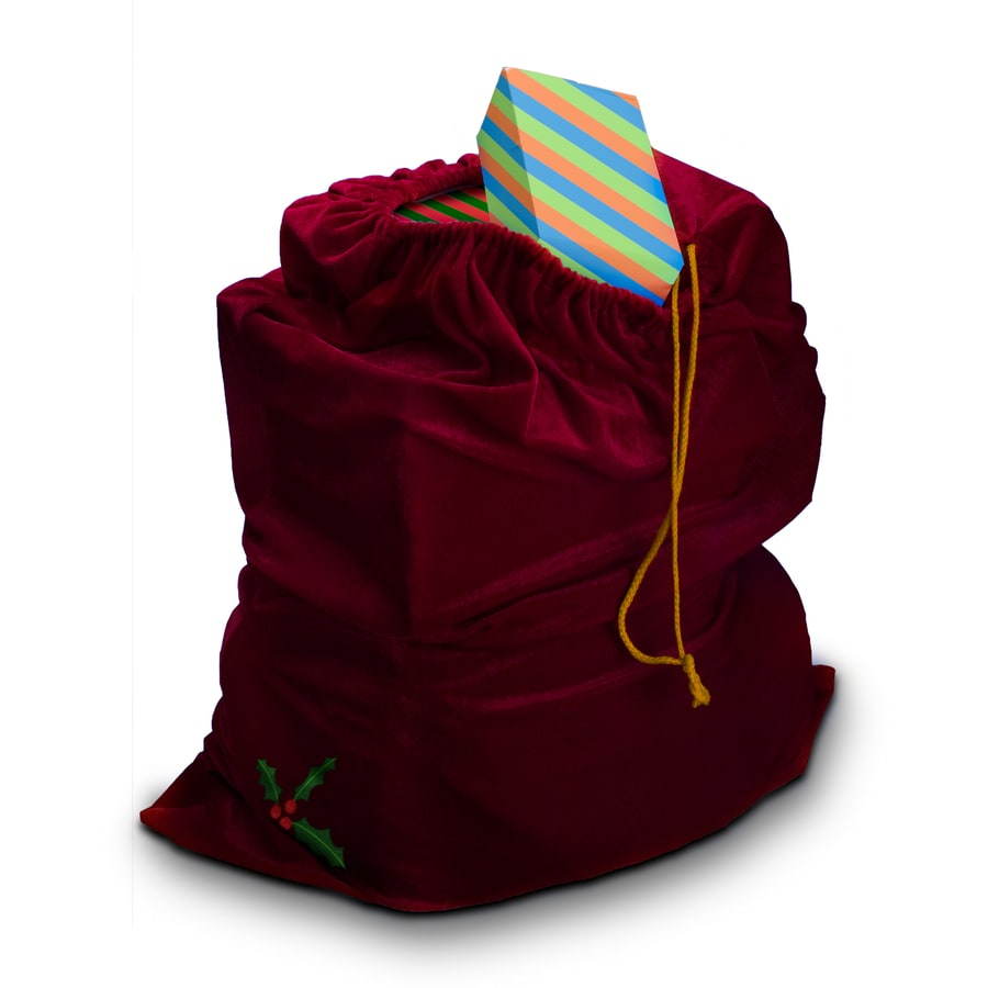 One Size Fits Most Maroon Polyester Toy Sack