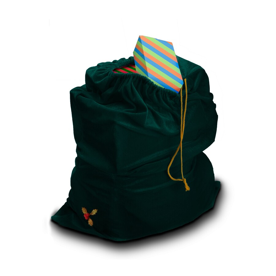 One Size Fits Most Green Polyester Toy Sack