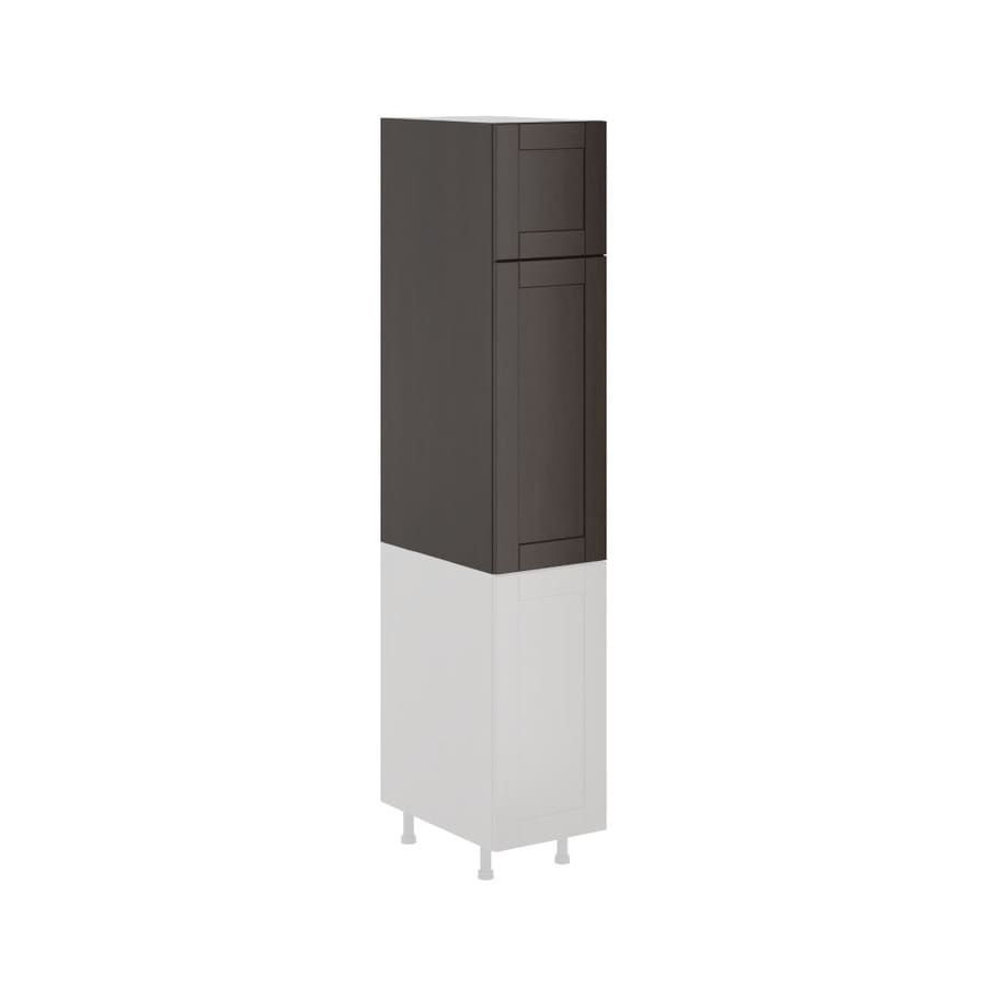 K Collection 15.125-in W x 49.125-in H x 23.625-in D Stained Kentia Birch Shaker Door Pantry Cabinet