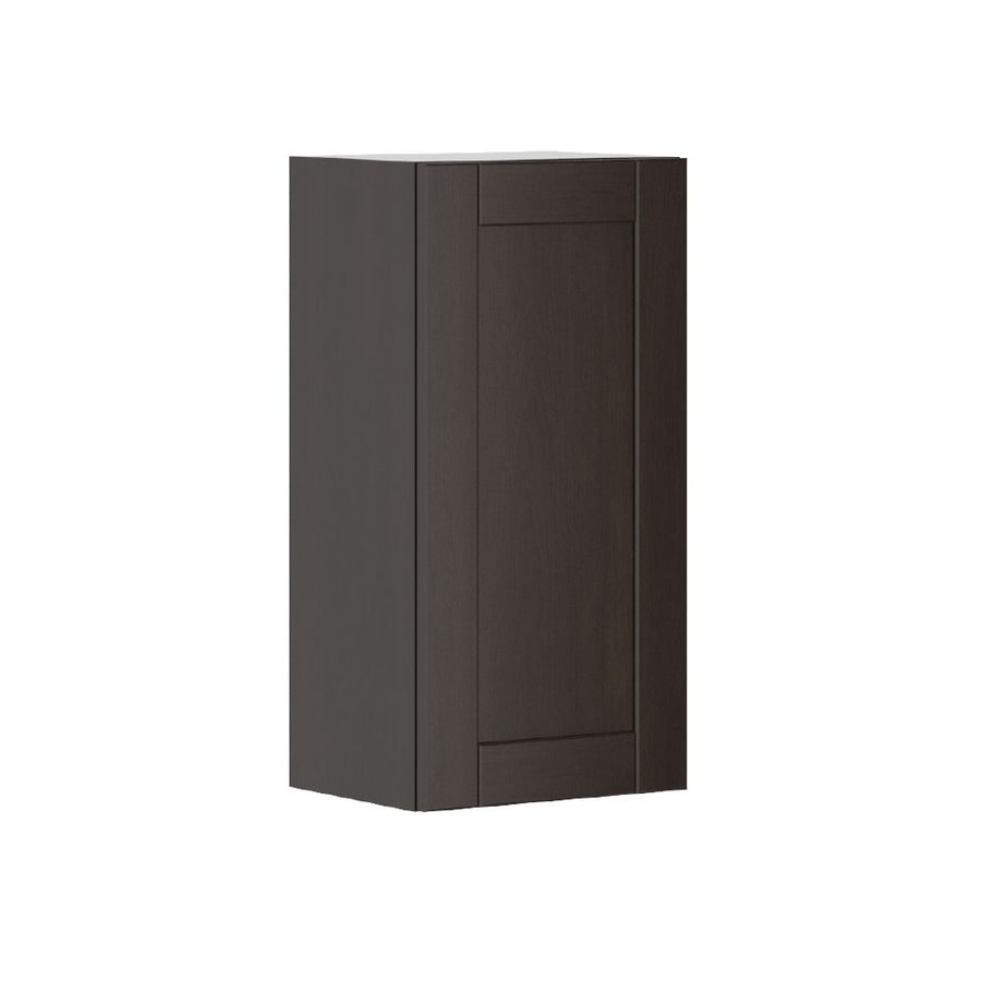 K Collection 15.125-in W x 30.25-in H x 11.625-in D Stained Kentia Birch Shaker Door Wall Cabinet
