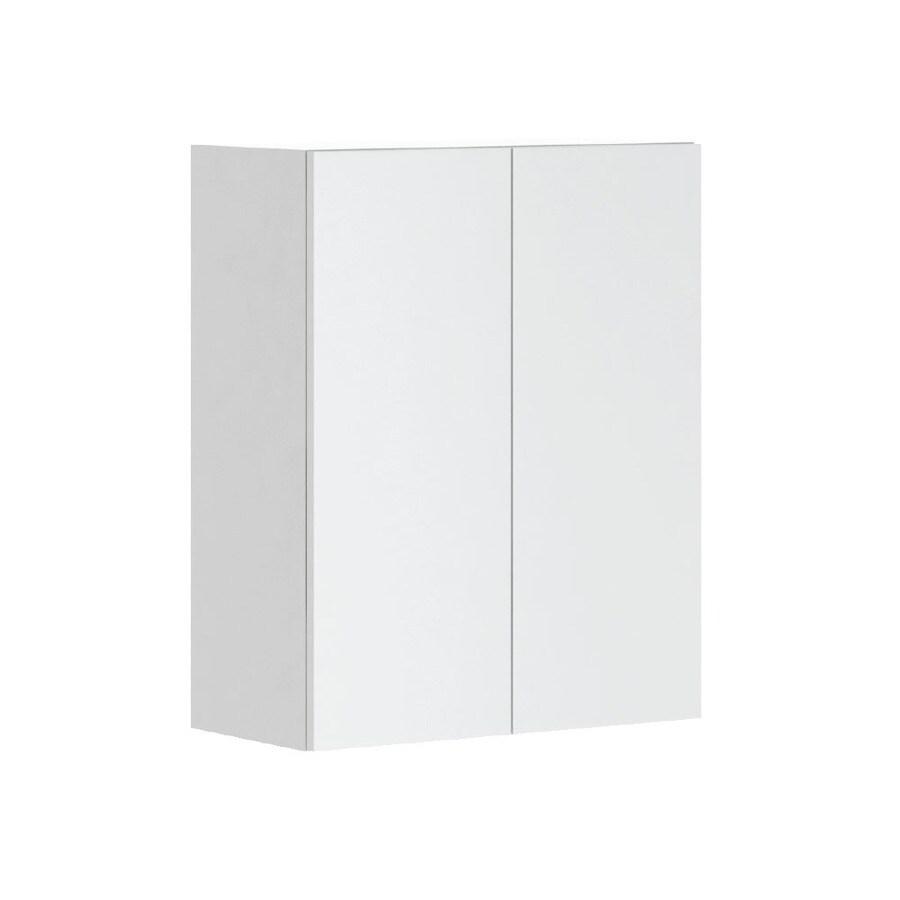 K Collection 23.9375-in W x 30.25-in H x 11.625-in D Kava Slab Door Wall Cabinet