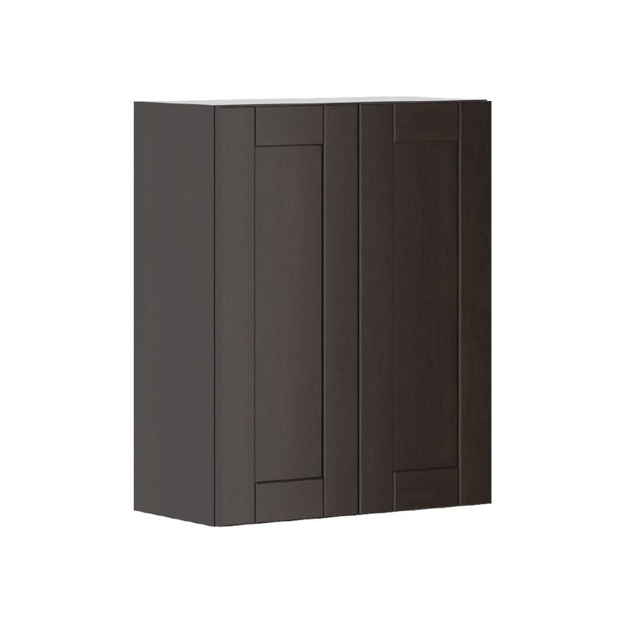 K Collection 23.9375-in W x 30.25-in H x 11.625-in D Stained Kentia Birch Shaker Door Wall Cabinet