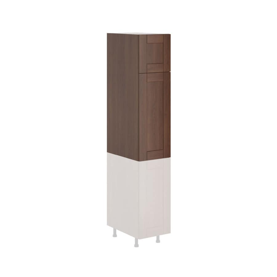 K Collection 15.125-in W x 49.125-in H x 23.625-in D Stained Kaleo Birch Shaker Door Pantry Cabinet