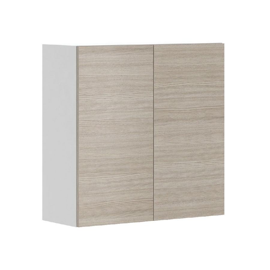 K Collection 30.25-in W x 30.25-in H x 11.625-in D Kaden Slab Door Wall Cabinet