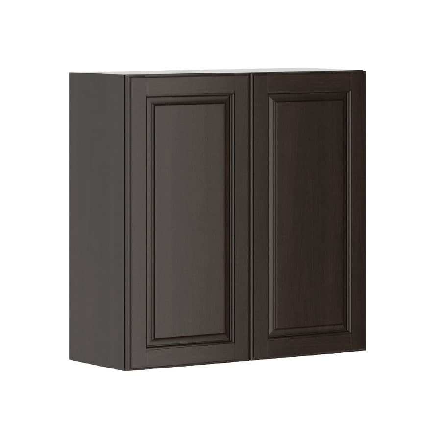 K Collection 30.25-in W x 30.25-in H x 11.625-in D Stained Kira Birch Door Wall Cabinet