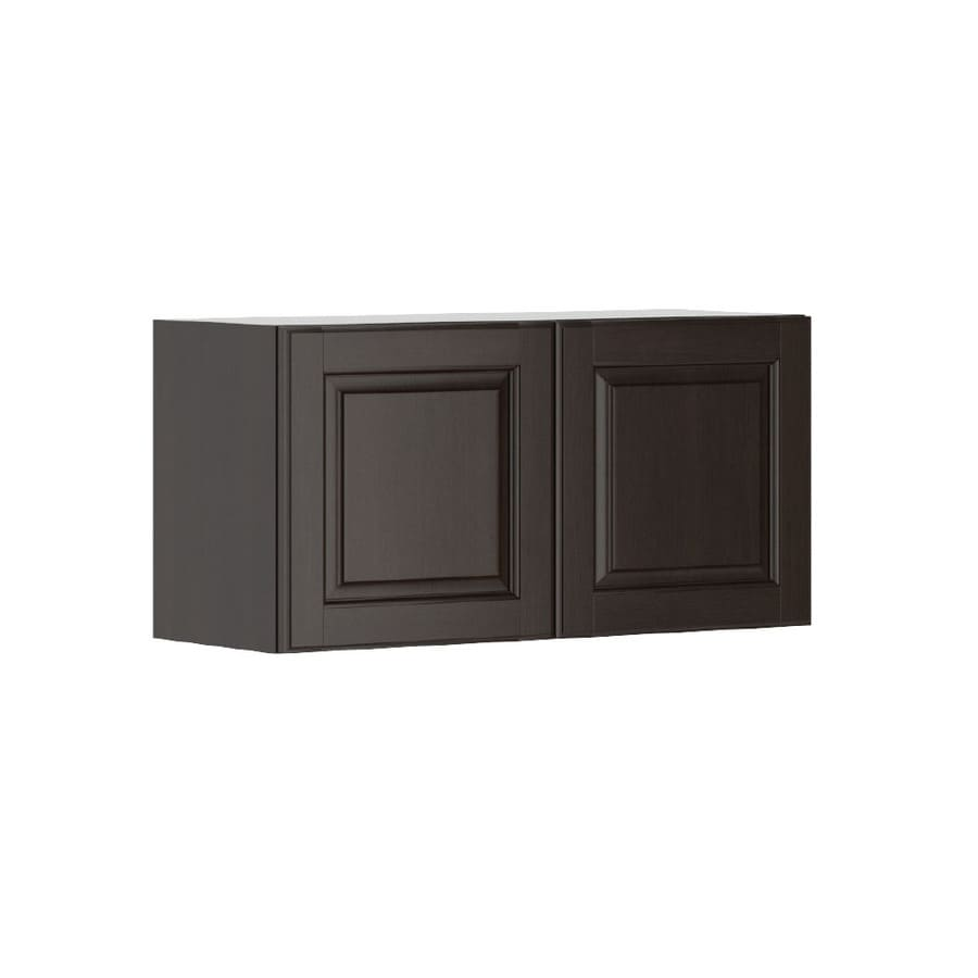 K Collection 30.25-in W x 15.125-in H x 11.625-in D Stained Kira Birch Door Wall Cabinet