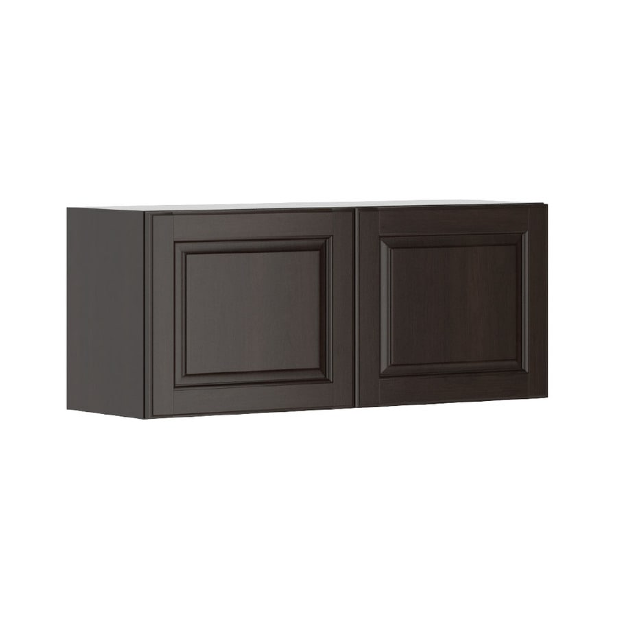 K Collection 35.875-in W x 15.125-in H x 11.625-in D Stained Kira Birch Door Wall Cabinet