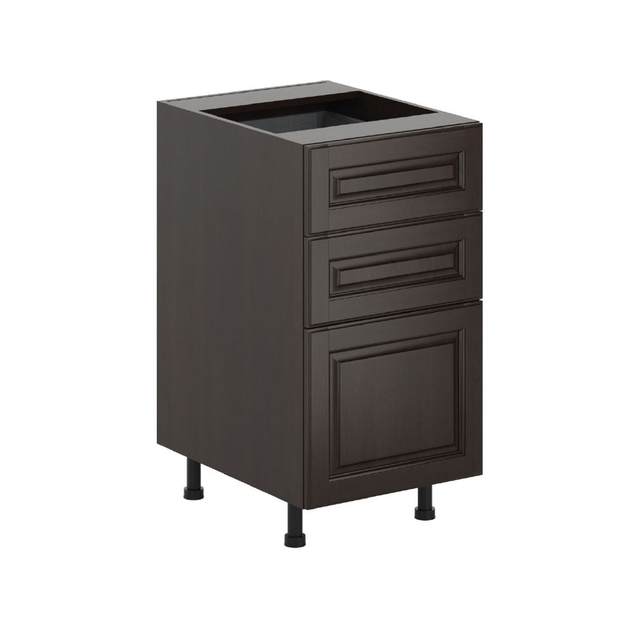 K Collection 17.9375-in W x 34.5-in H x 23.625-in D Stained Kira Birch Door and Drawer Base Cabinet