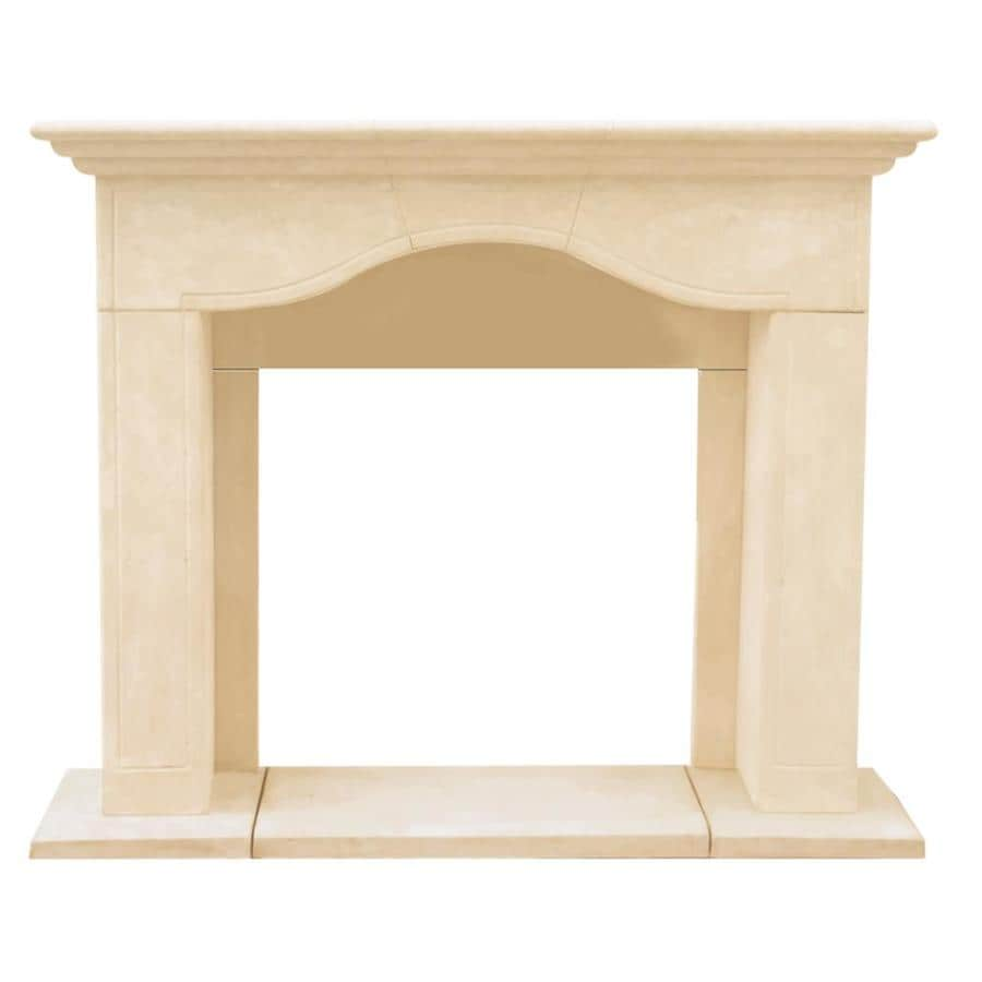HISTORIC MANTELS LIMITED Chateau 62-in W x 54.5-in H Distressed Ivory Traditional Fireplace Surround