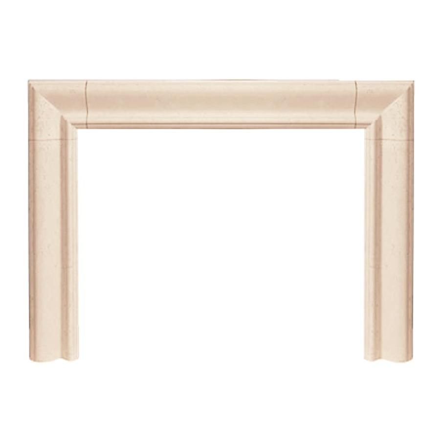 HISTORIC MANTELS LIMITED Builder 58-in W x 47-in H Distressed Ivory Contemporary Fireplace Surround