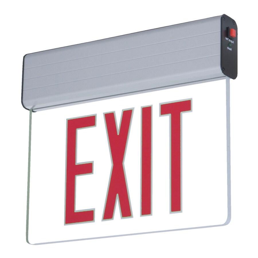 Sure-Lites EUR/EUS Red LED Hardwired Exit Light