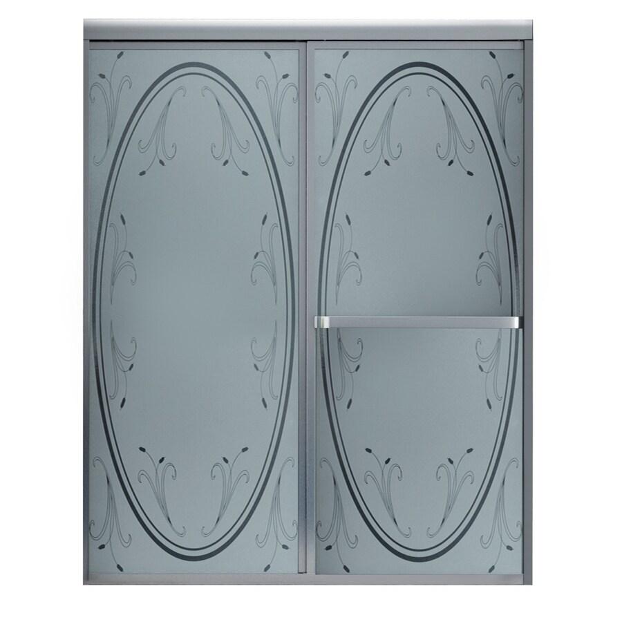 MAAX Vertiga 57-in to 59-in W x 68-in H Matte Nickel Sliding Shower Door