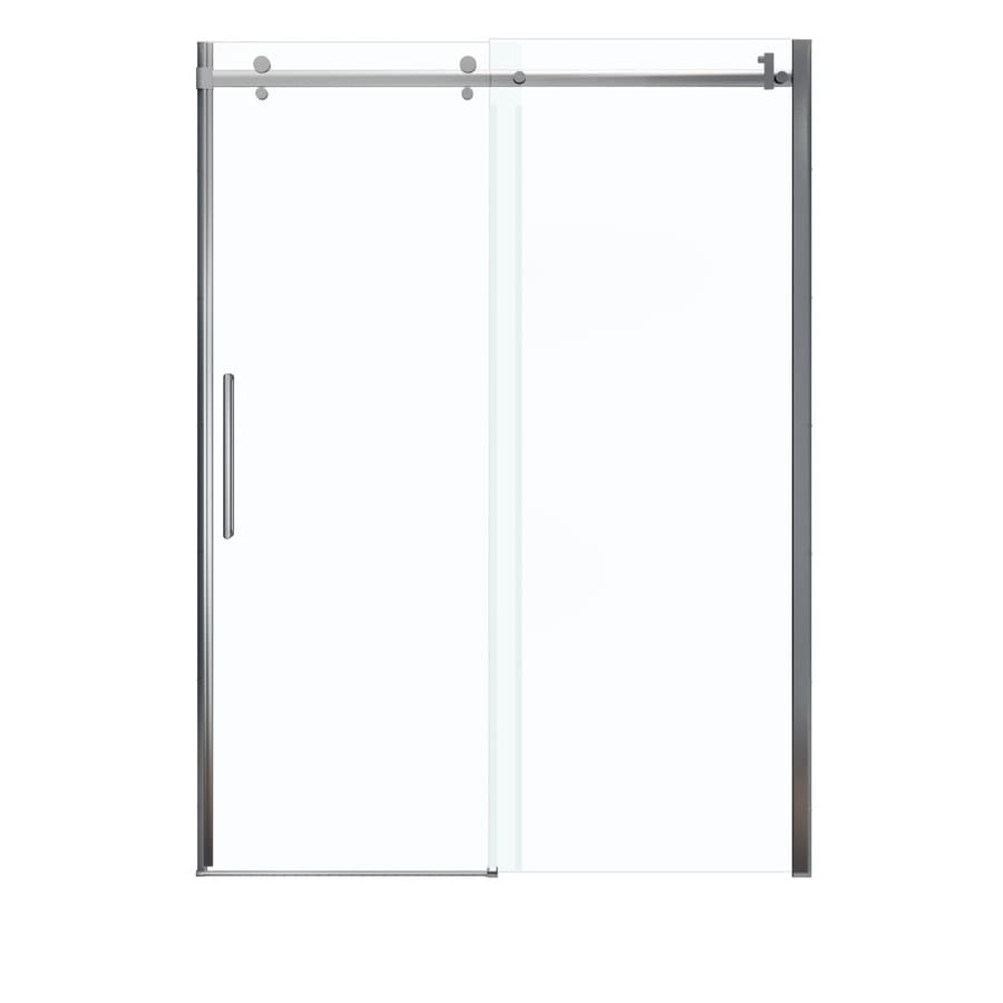MAAX Halo 56.5-in to 59-in W x 78.75-in H Chrome Sliding Shower Door