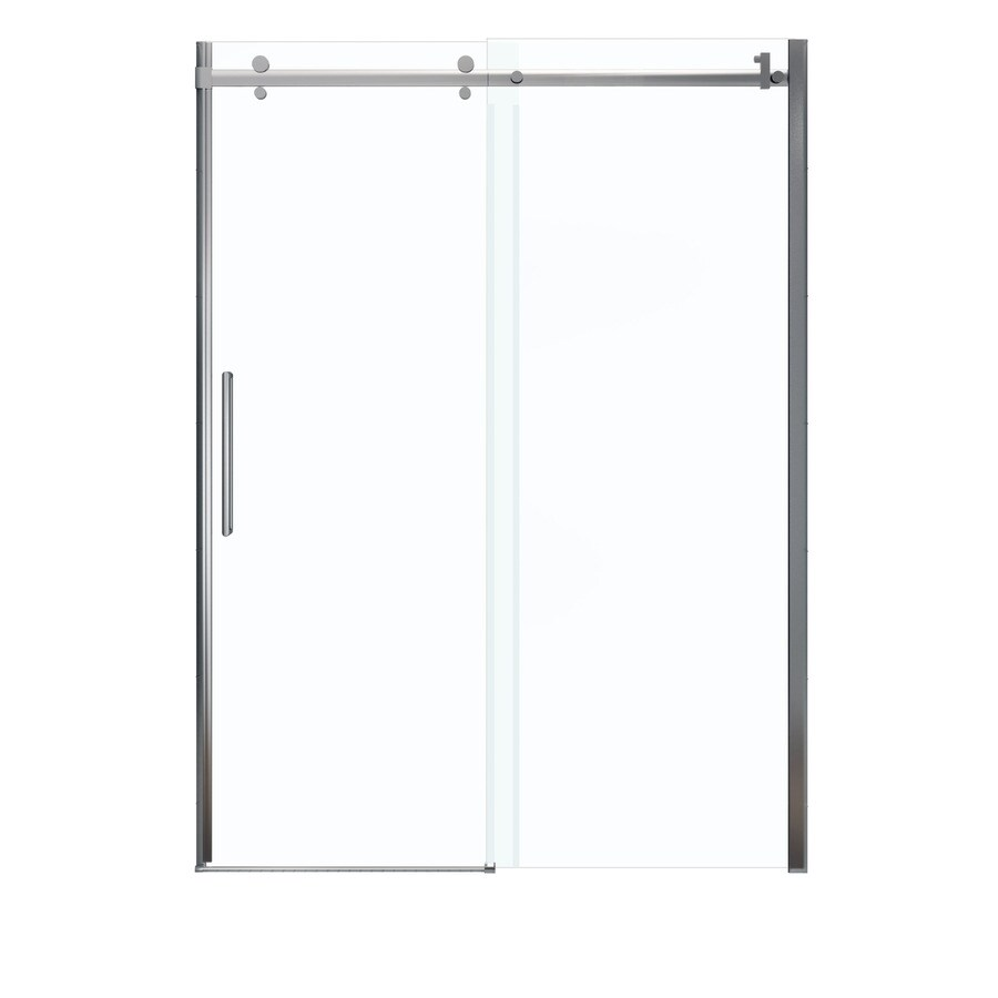 In to 59 in w x 78 75 in h chrome sliding shower door at lowes com