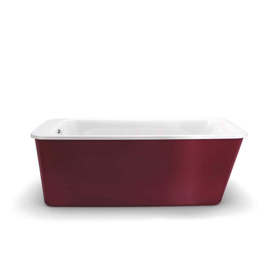 MAAX Lounge Ruby Gelcoat and Fiberglass Rectangular Skirted Bathtub with Reversible Drain (Common: 34-in x 60-in; Actual: 22.25-in x 34-in x 64-in)