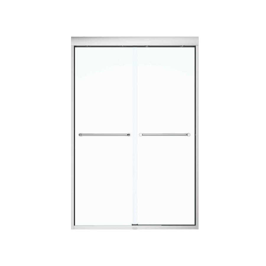 MAAX Aura 43-in to 47-in W x 71-in H Chrome Sliding Shower Door