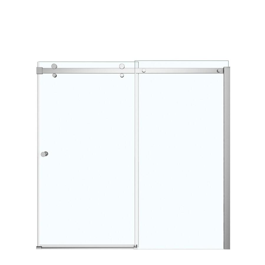 MAAX Luminescence 59-in W x 55.5-in H Frameless Bathtub Door