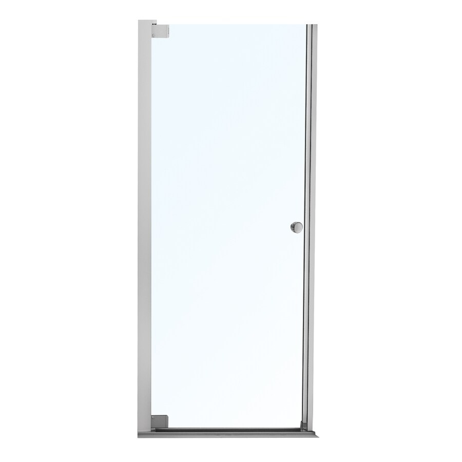 MAAX Madono 34.5-in to 36.5-in Frameless Pivot Shower Door