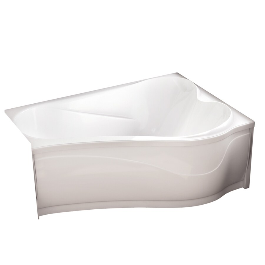 MAAX Murmur White Acrylic Hourglass In Rectangle Drop-In Bathtub with Right-Hand Drain (Common: 43-in x 60-in; Actual: 21-in x 43-in x 60-in)