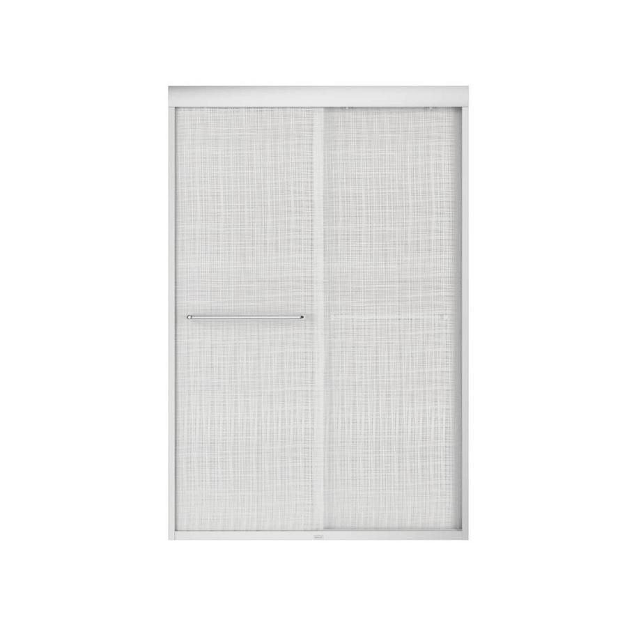 MAAX Aura 43-in to 47-in W x 71-in H Chrome Sliding Shower Door