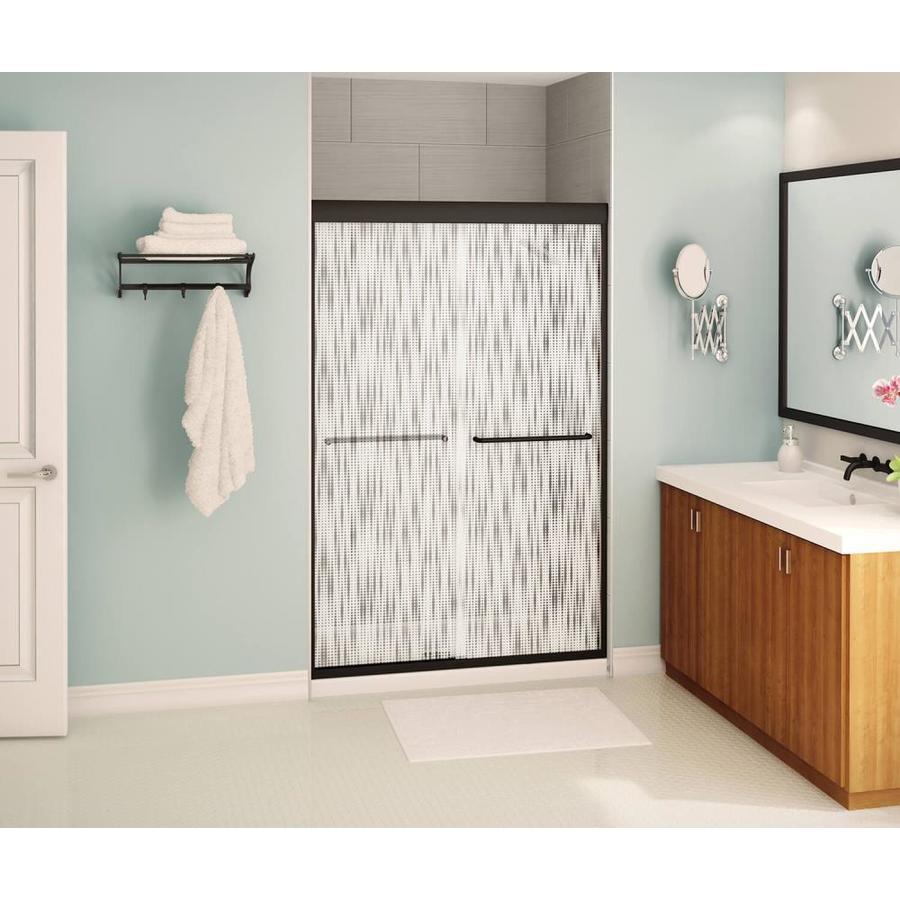MAAX Aura 6 43-in to 47-in W x 71-in H Dark Bronze Sliding Shower Door