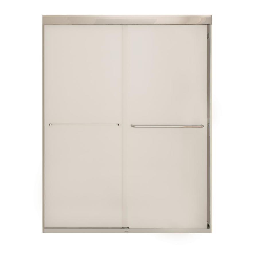 MAAX Aura 6 55-in to 59-in W x 71-in H Chrome Sliding Shower Door