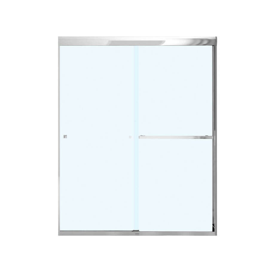 MAAX Aura 8 55-in to 59-in W x 71-in H Chrome Sliding Shower Door