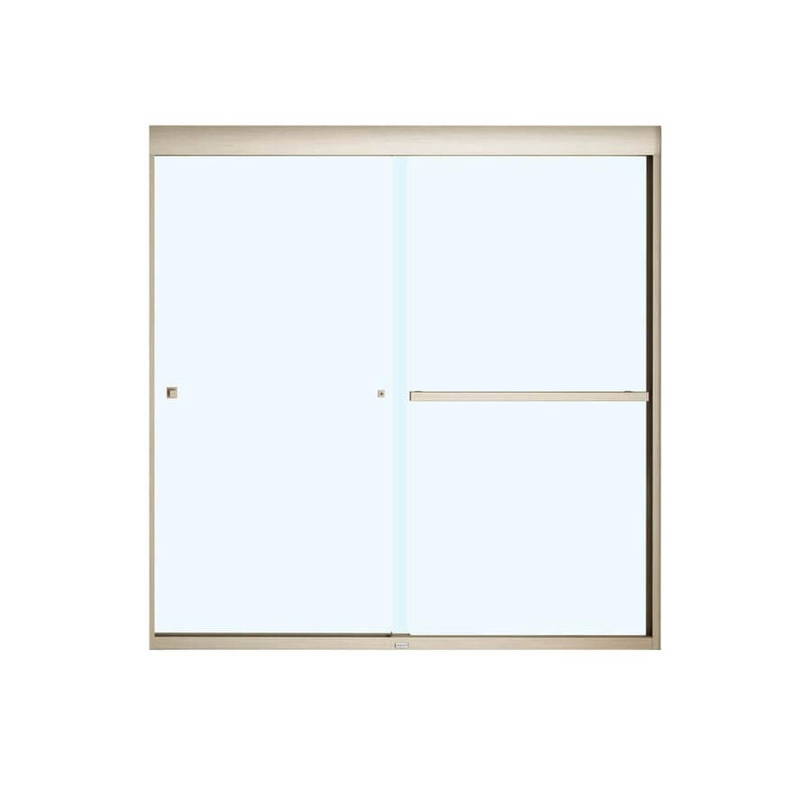 MAAX Aura 8 Soft Close 59-in W x 57-in H Frameless Bathtub Door